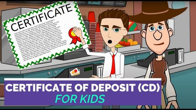 Certificate of Deposit or CD