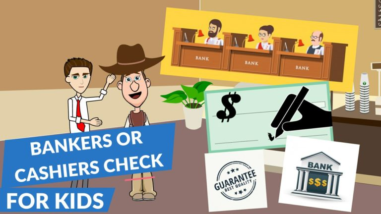 What is a Bankers Check or a Cashiers Check – Easy Peasy Finance for Kids and Beginners – Podcast