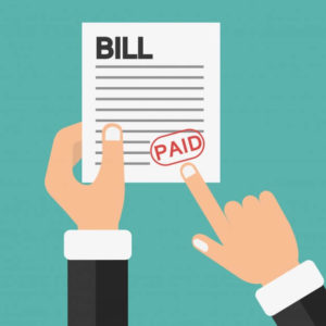 Pay all bills on time for improving your credit score