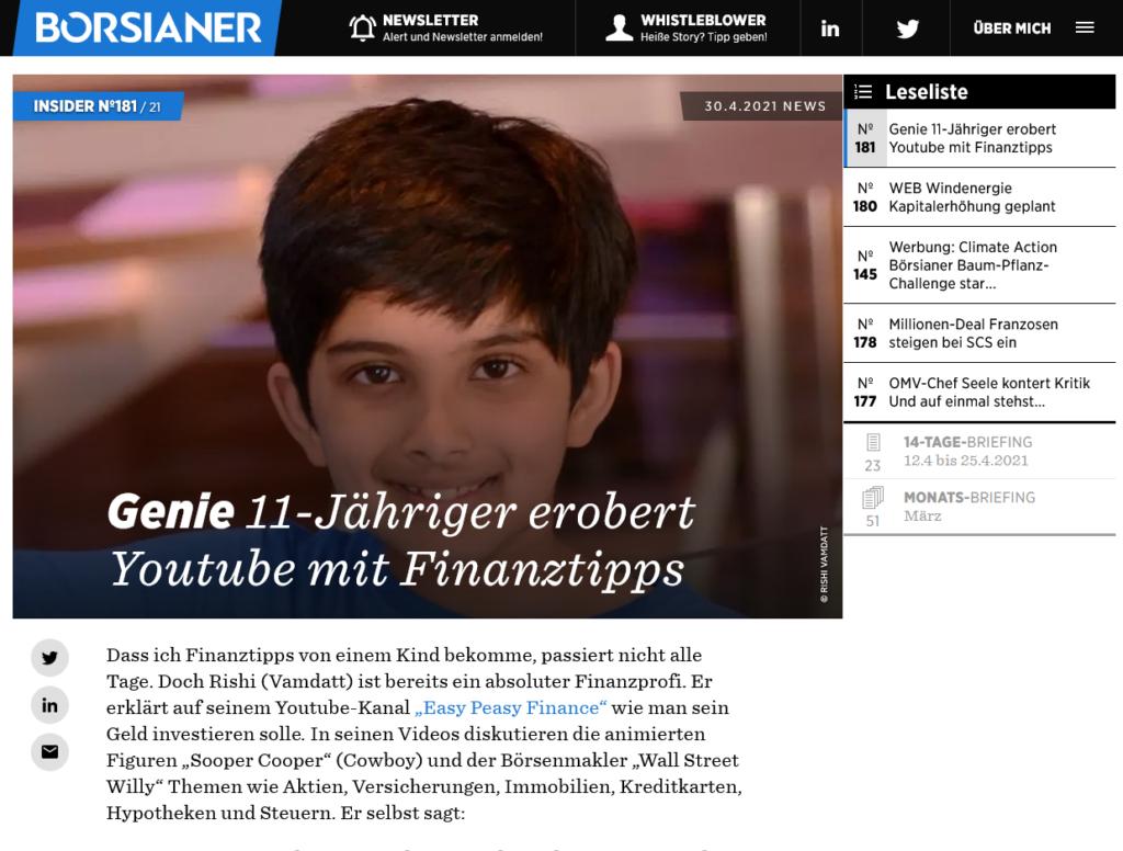 Borsianer Magazine - Austria - Article in German