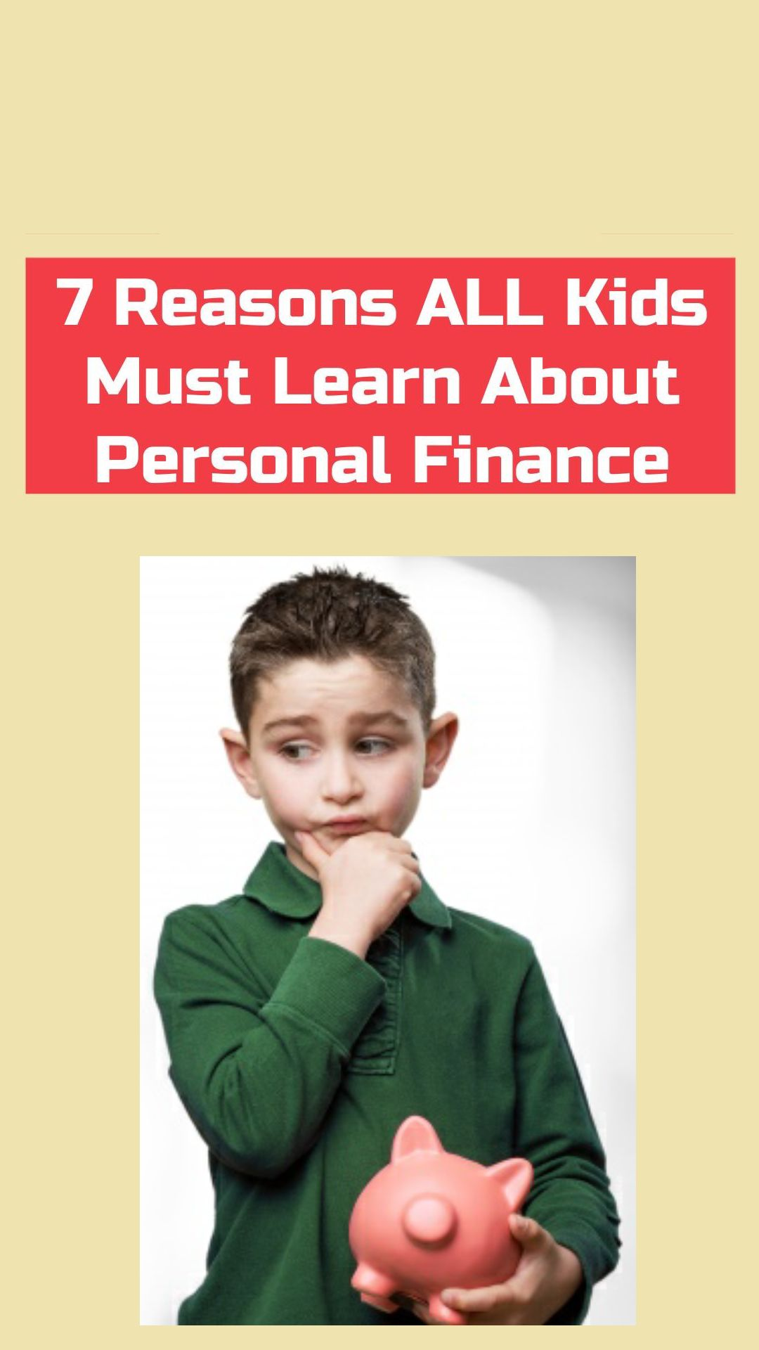 7 Reasons ALL Kids Must Learn About Personal Finance - Shorts