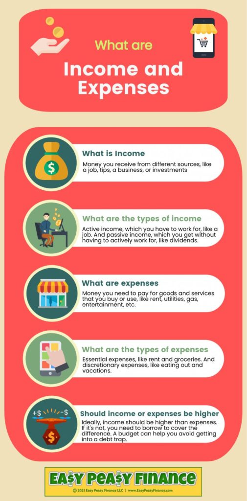 What are Income and Expenses - Infographic