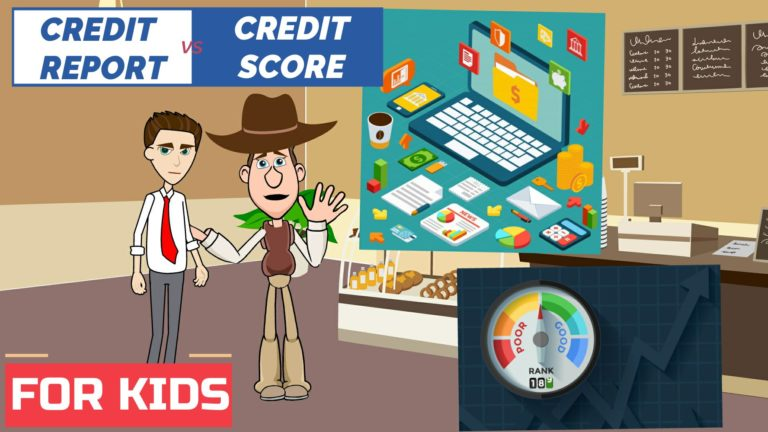 Credit Report vs Credit Score – Easy Peasy Finance for Kids and Beginners – Podcast
