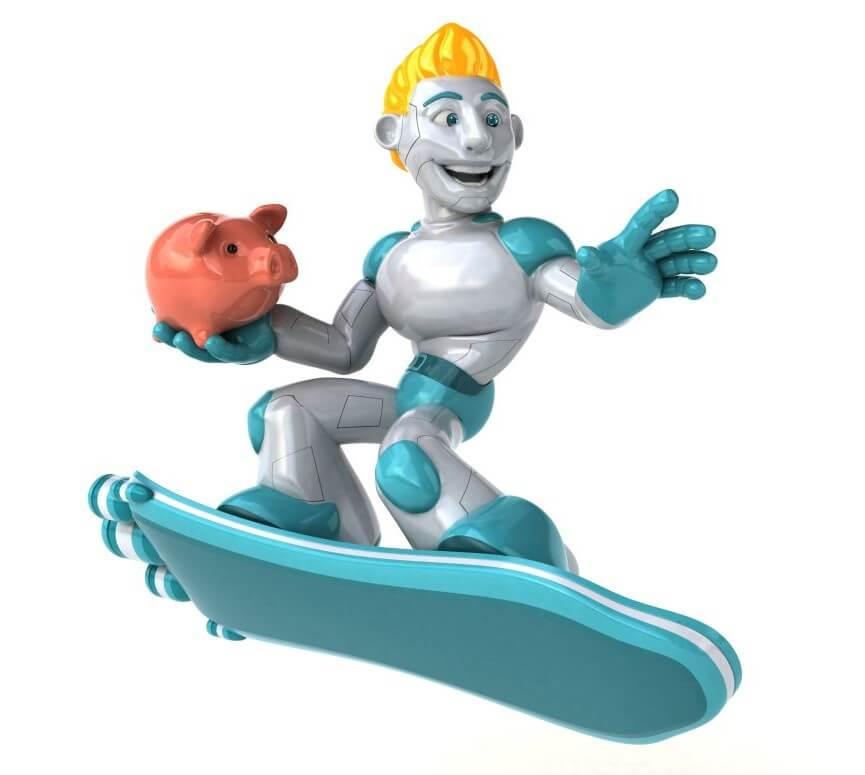 Money Toy Robot